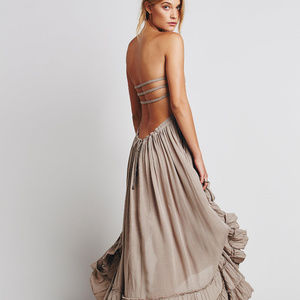 NWT  GORGEOUS Free People Taupe Maxi Dress size XS
